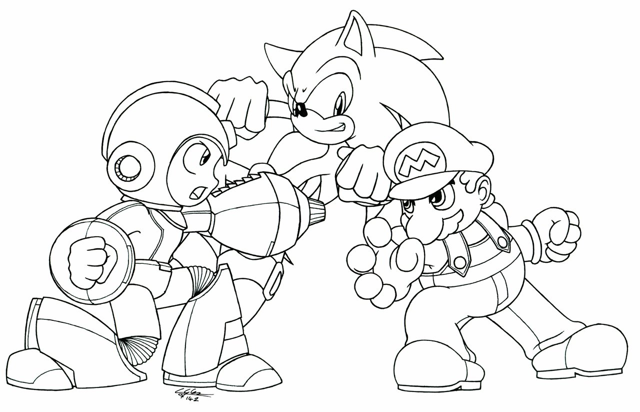 Coloriage de mario et sonic imprimer sur coloriage de com for Mario and sonic coloring pages