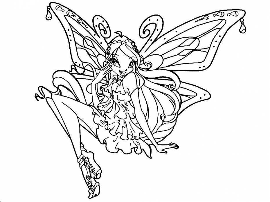 Coloriage de Winx Enchantix