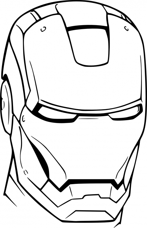 Coloriage de casque Iron Man