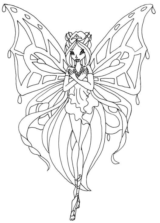 Coloriage de Flora enchantix