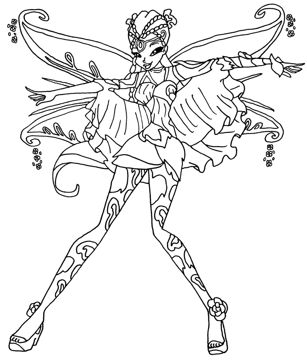 Coloriage Winx Flora Bloomix Apanageet Com
