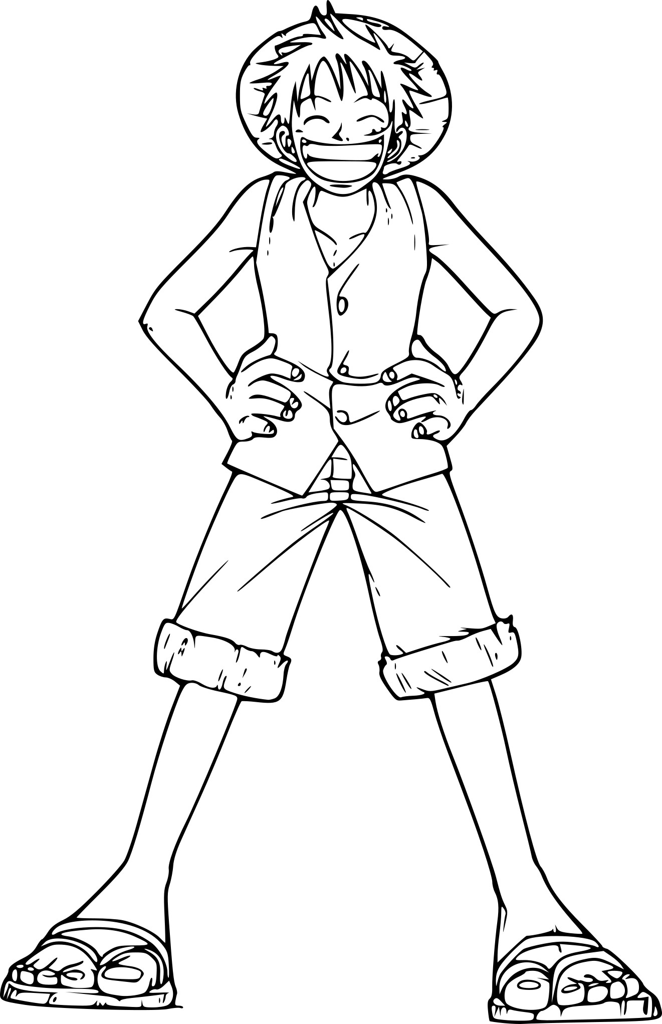 Coloriage de luffy one piece imprimer sur coloriage de com - Dessin a colorier one piece ...