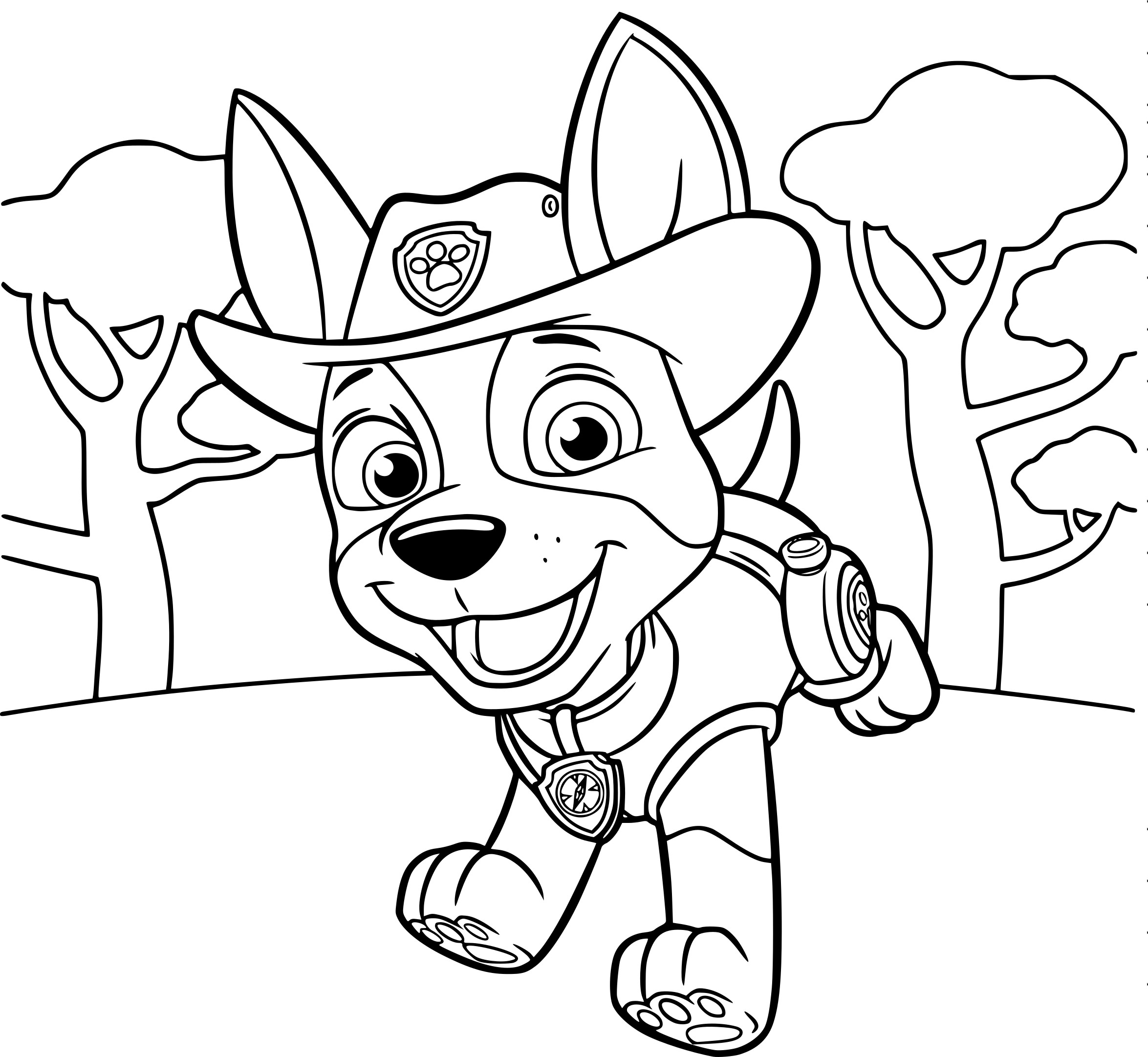 Coloring Pages Of Paw Patrol : Pokemon paw patrol coloring images