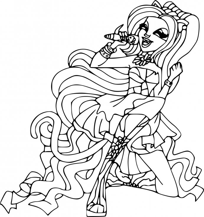 Coloriage de Monster High Catty noir