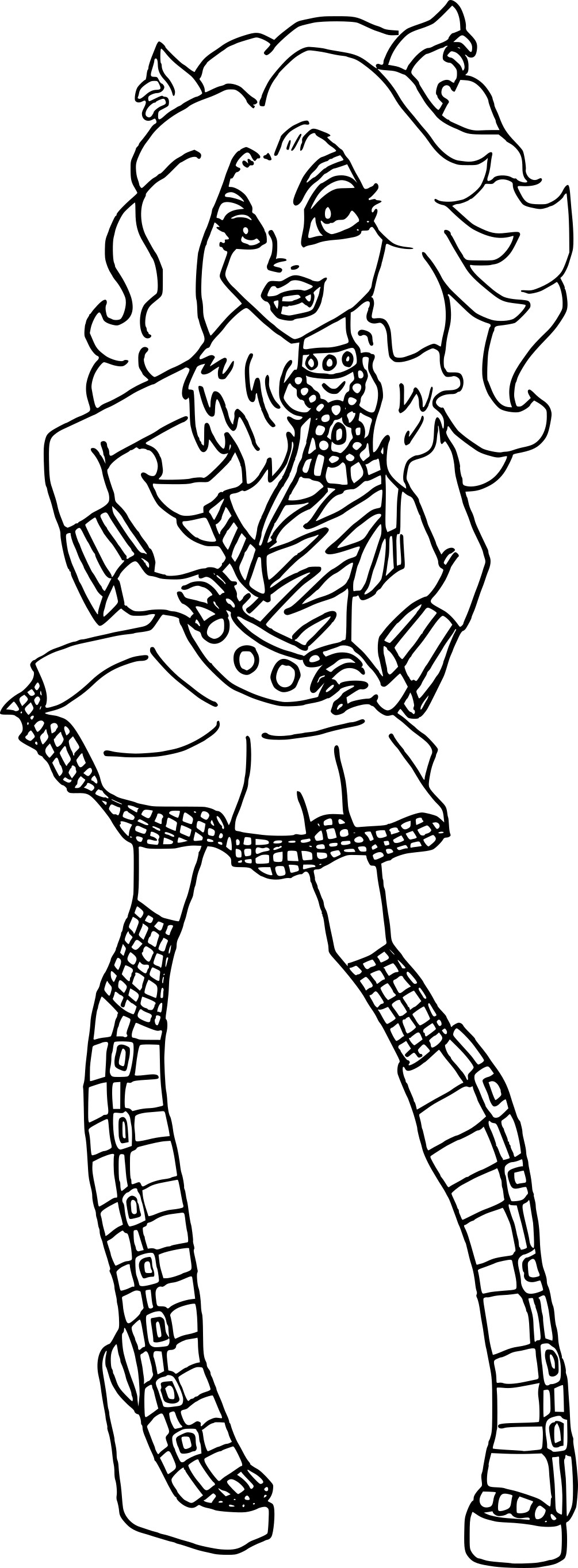 Nouveau coloriage clawdeen monster high - Coloriage de monster ...