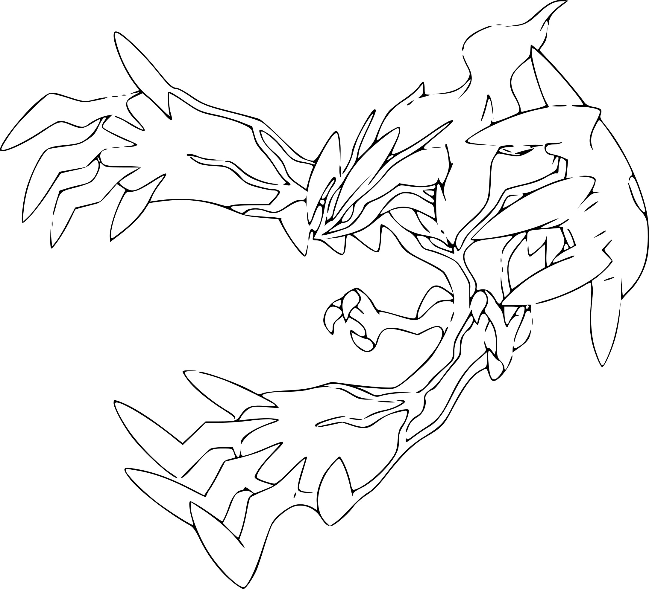 Luxe coloriage pokemon mega jungko for Pokemon yveltal coloring pages