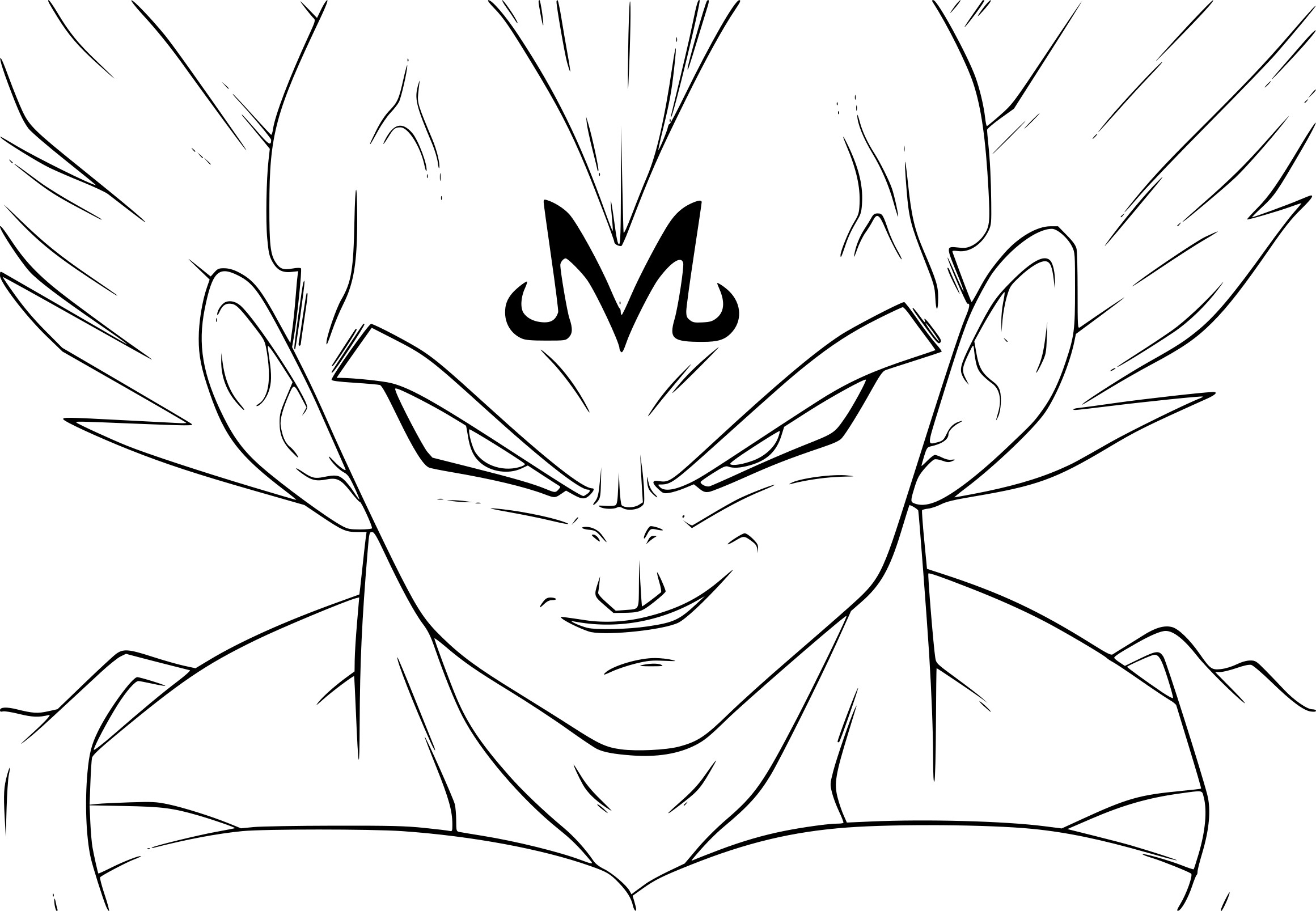 coloriage de dragon ball z à imprimer