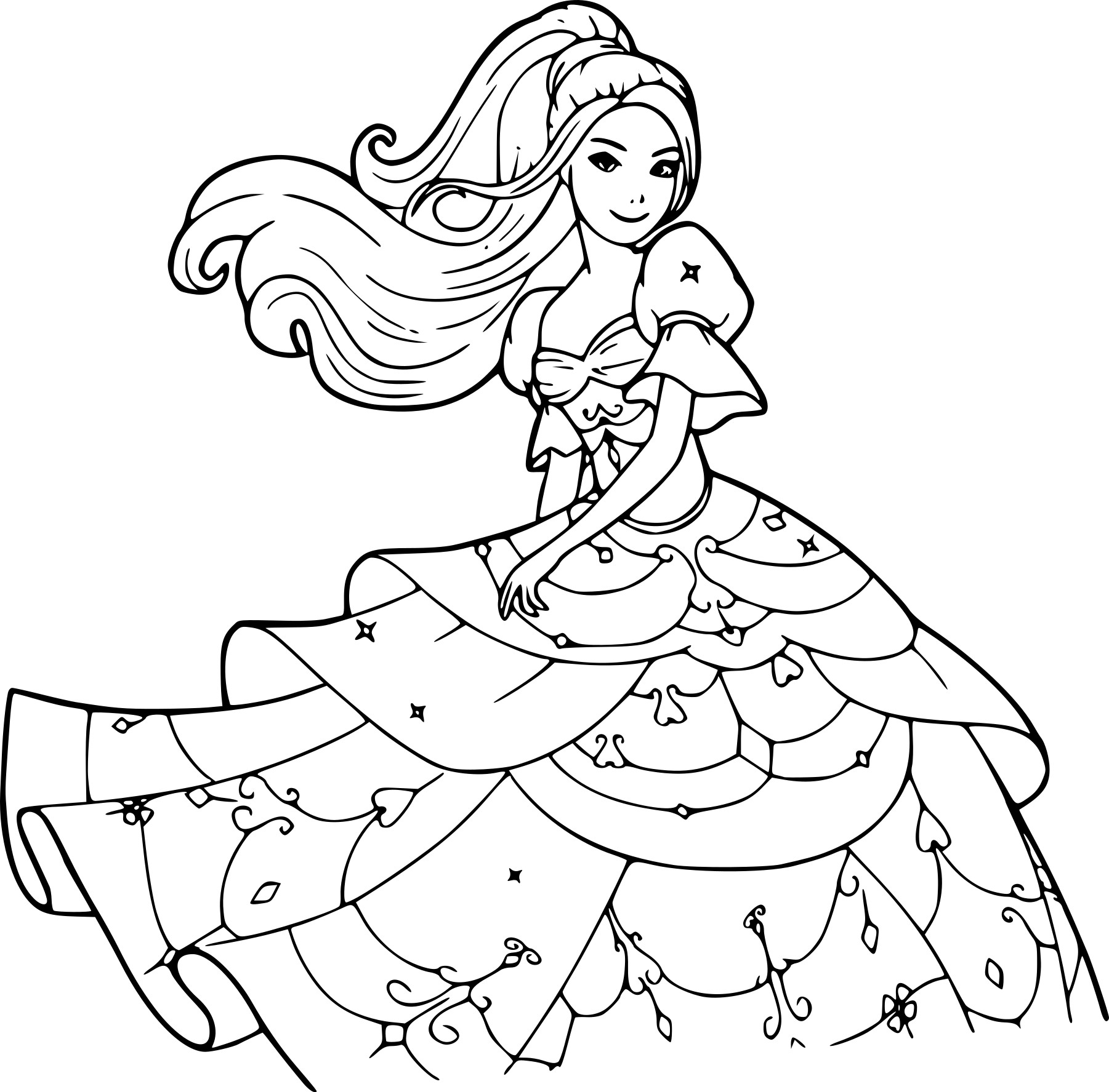 Coloriage de barbie princesse imprimer sur coloriage de com - Barbie princesse coloriage ...