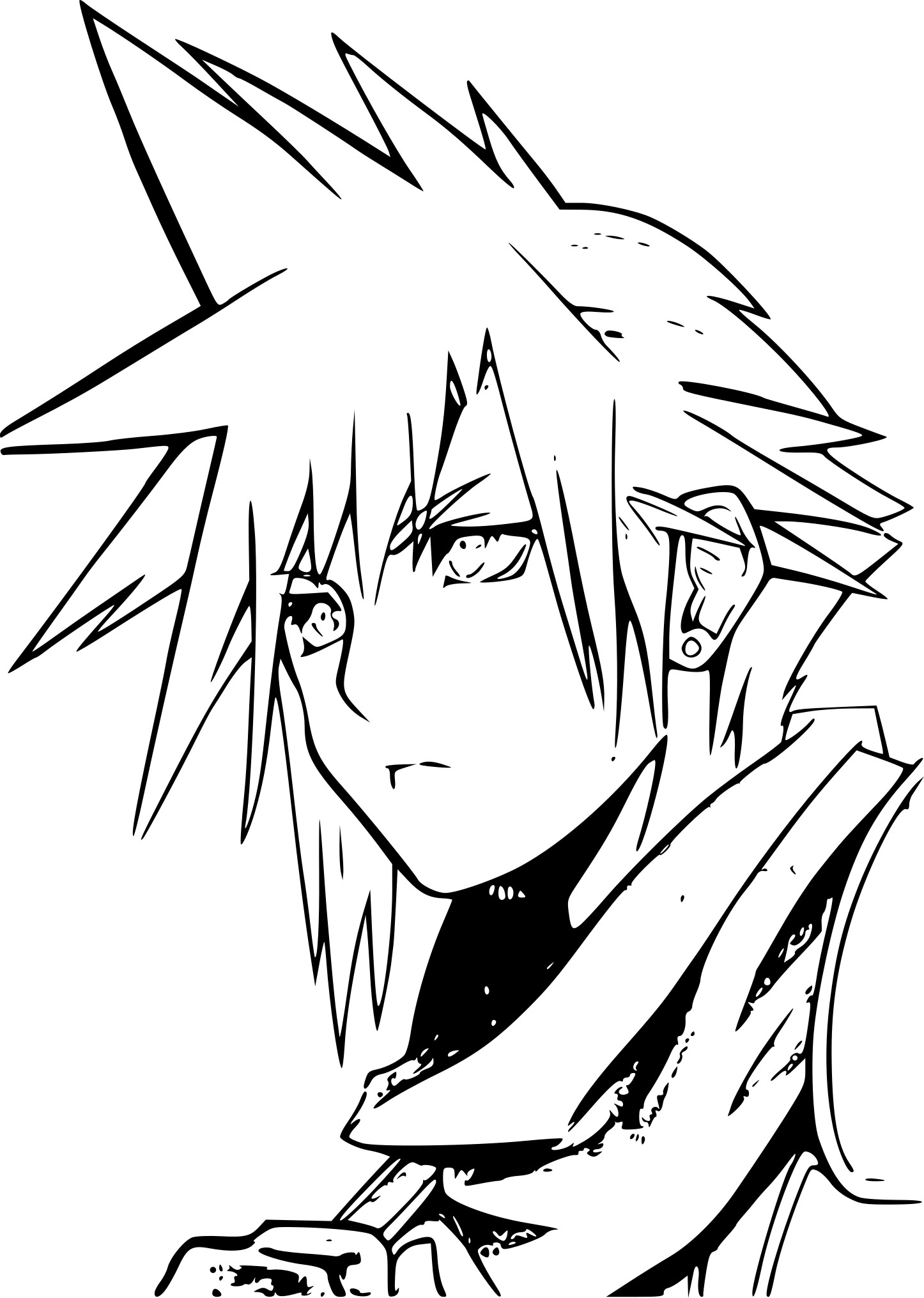 cloud final fantasy seven coloring pages | Coloriage de Final Fantasy 7 à imprimer sur Coloriage DE .com