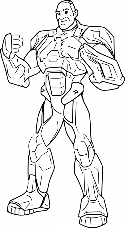 Coloriage de Max Steel