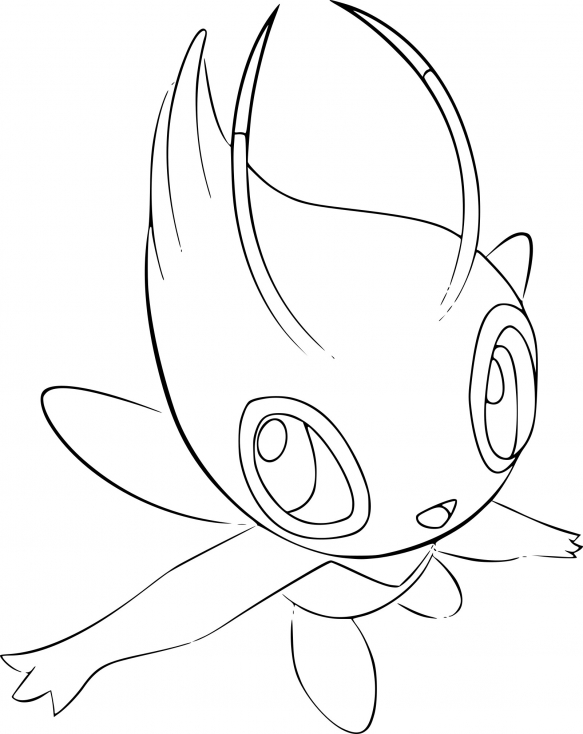 Coloriage du Pokemon Celebi