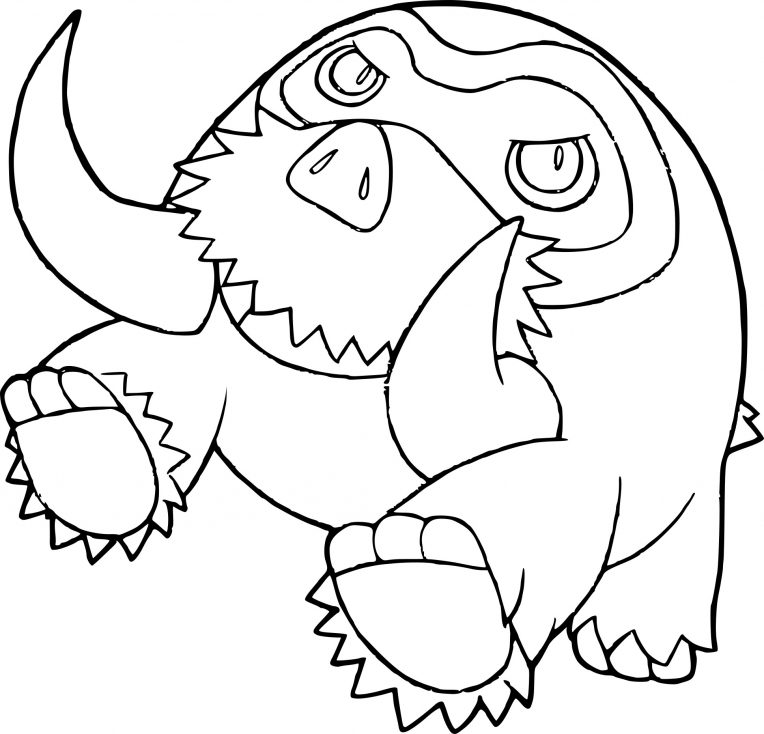Coloriage du Pokemon Mammochon