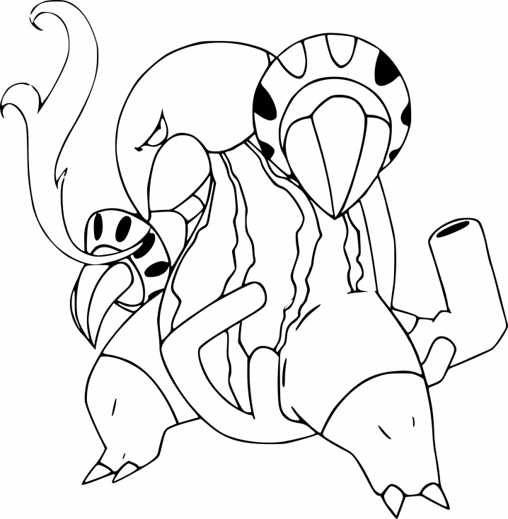 Coloriage du Pokemon Aflamanoir