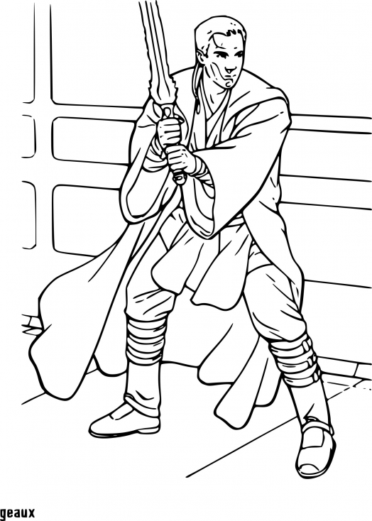 Coloriage de Anakin Skywalker